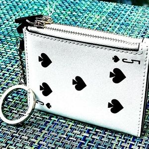 Kate Spade Lucky Draw Deck of Cards coin key case